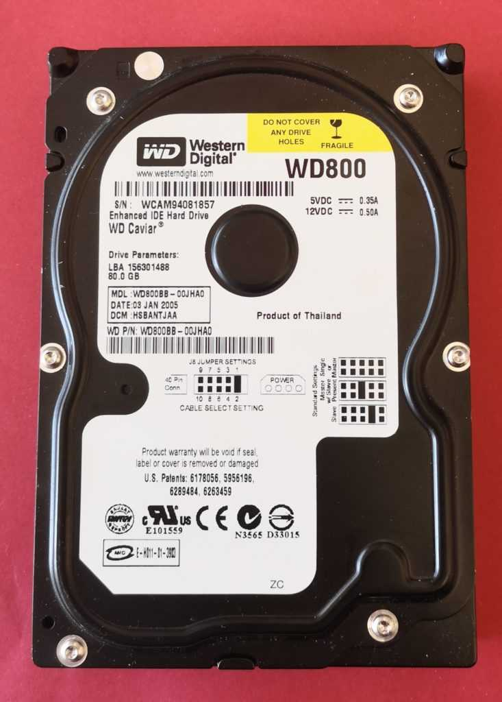 Image Disque dur 80 GB Western Digital