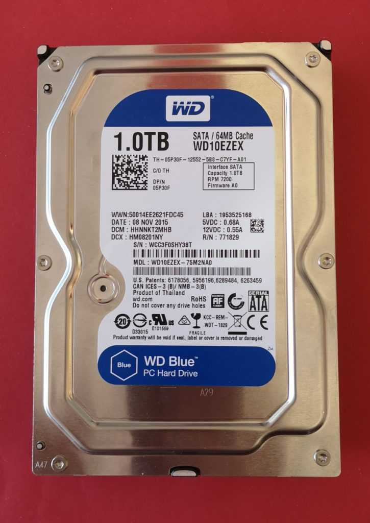 Image Disque dur original Western Digital 1,0 TB